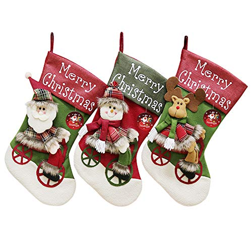 Auoinge Big Size Christmas Stockings, 18