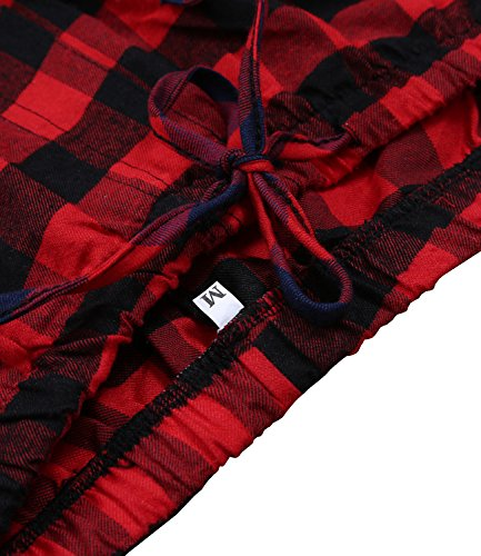 Garsebo men 39 s 100 cotton super soft flannel plaid pajama for Super soft flannel shirts