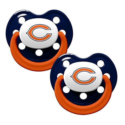 Chicago Bears 2-Tone 2-pack Infant Pacifier Set - 2014 NFL Baby Pacifiers by Baby Fanatic