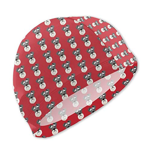 - Lxmn Swim Caps for Children,Schnauzer Head Dog Head Dogs Pets Pet Red Bathing Caps Swim Hat Kid Sun Hat