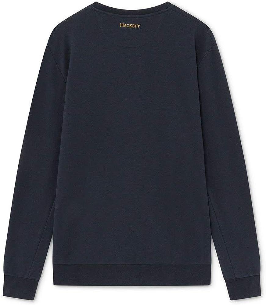 Hackett London Herren Polo Sweater Selfedge Trim Jsy Ls 595navy