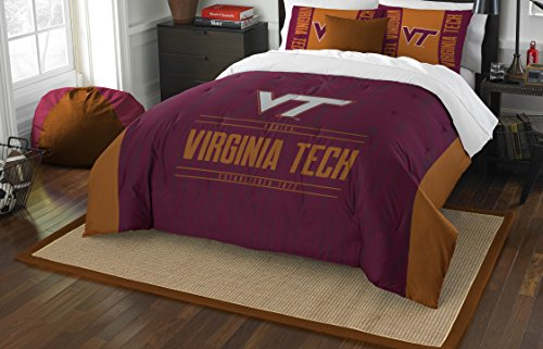 (The Northwest Company Officially Licensed NCAA Virginia Tech Hokies Modern Take Full/Queen Comforter and 2 Sham Set)