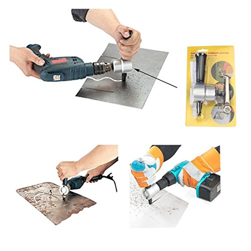 Antrader Double Head Sheet Nibbler Metal Cutter Hole Saw Drill Attachment by Hold Tools (Image #4)