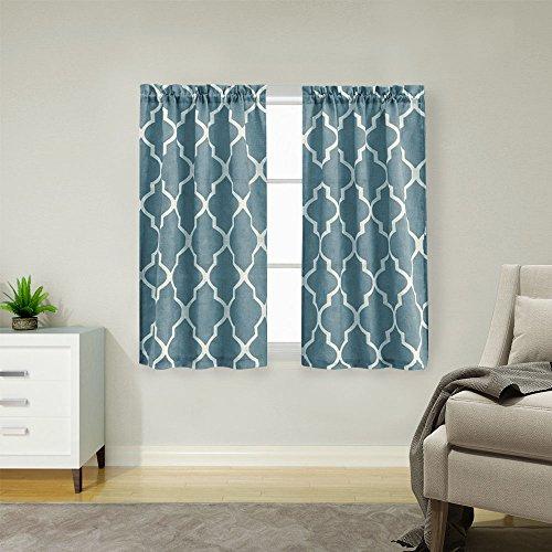 Grey Linen Textured Kitchen Curtains
