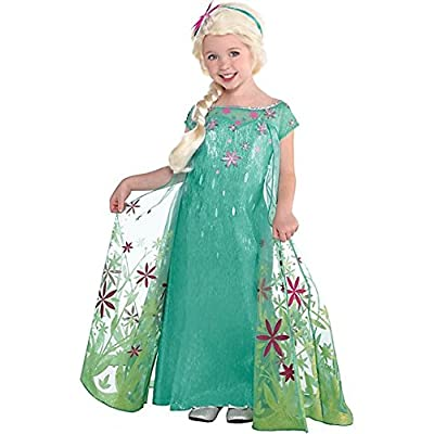 Elsa Disney Frozen Fever Costume, 3T-4T: Clothing