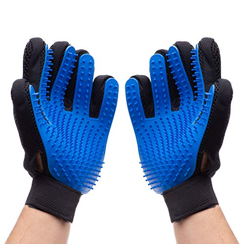 Lifehack Premium Pet Grooming Gloves – Gentle Deshedding & Hair Removal Mitt – Upgraded 259 Tip Five Finger Design – Ideal for Dogs, Cats, Horses and More