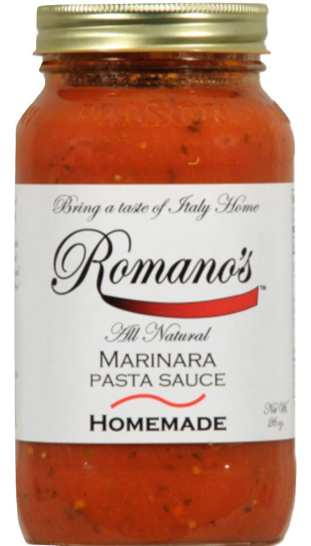 Romano's Pasta Sauce MARINARA ALL NATURAL 26 oz no sugar added NO GMO