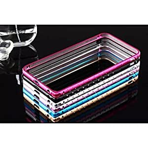 Double Row Metal Pure Color Protection Frame for iPhone 6 (Assorted Colors) , Rose