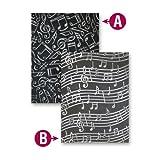 Spellbinders EL-011 M-Bossabilities Reversible Embossing Folder, Music
