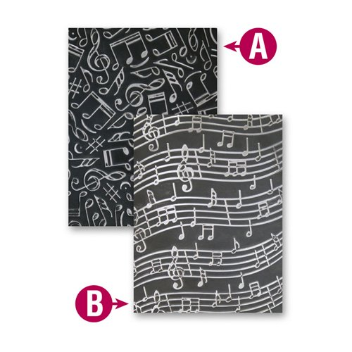 Spellbinders EL-011 M-Bossabilities Reversible Embossing Folder Music
