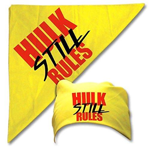 Hulk Hogan Still Rules Yellow Bandana Adult (Hulk Hogan Bandana)