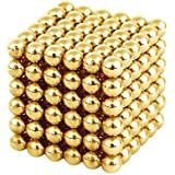 216pcs 5mm Magnet Balls Magic Bead 3D Puzzle Ball Sphere Magnetic Buckyballs Gold