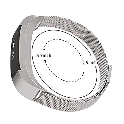 Fitbit Alta Band,Aokay Milanese Magnetic Loop Stainless Steel Bracelet Smart Watch Strap for Fitbit Alta Smart Fitness Tracker