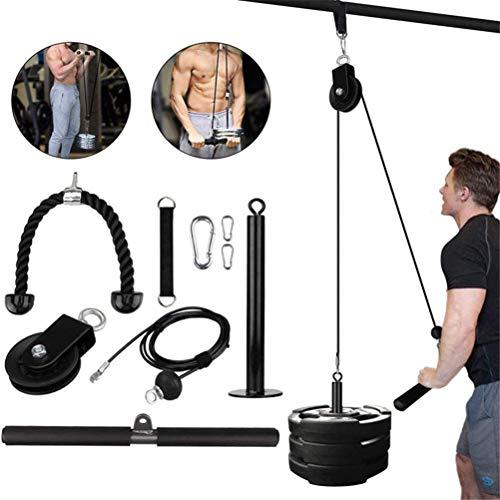 VIVILIAN Doe-het-zelf liftpulley-systeem, kabelsysteemmachine, fitnessapparatuur voor het trainen van biceps, triceps…