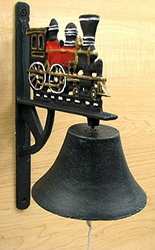 Big-Bell Train Cast Iron Country Decor Wall (Train Chime Clock)