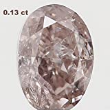 Natural Loose Diamond Oval Brown Color I2 Clarity 3.50X2.40X1.80 MM 0.13 Ct L4470