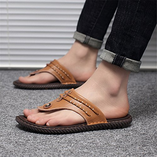 16817 Casual Outdoor Blue Summer Slippers Mens Leather Beach Leather z6c0q8