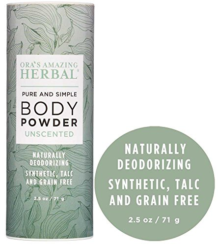 Natural Body Powder Fragrance Free Dusting Powder Unscented No Talc, Corn Starch