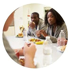 alfombrilla de ratón La gente sentada a la mesa come el alimento En Homeless Shelter - ronda - 20cm