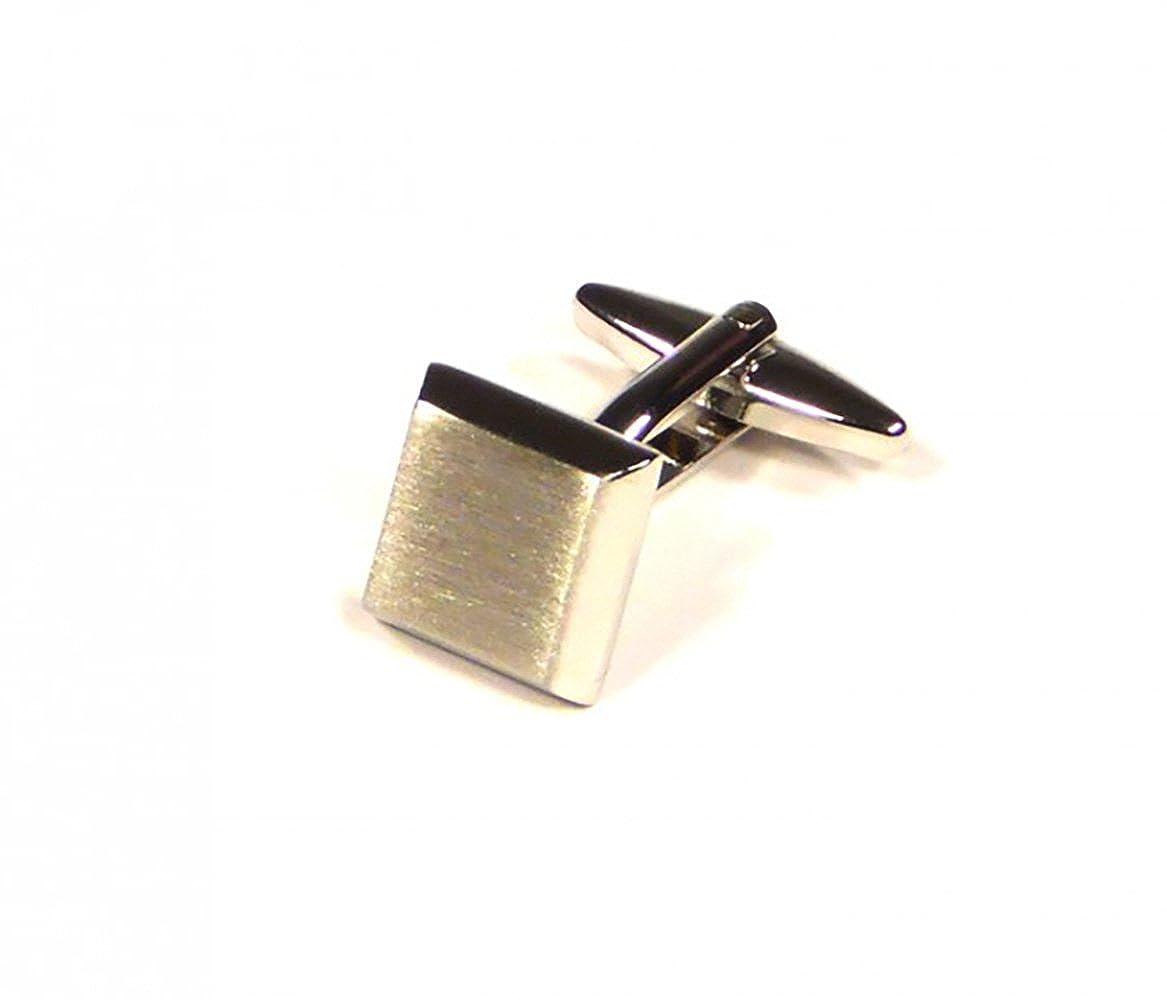 Premium Business // Wedding Accessories by Focus Ties Silver Bevelled Cufflinks