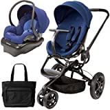 Quinny CV078BFP Moodd Stroller Travel system with diaper bag and car seat - Blue Reliance