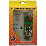 """4CFB Complete Wooden Fingerboard with Real Wear """"Hector the Alien"""" Golden Age Comic Book Graphic"""