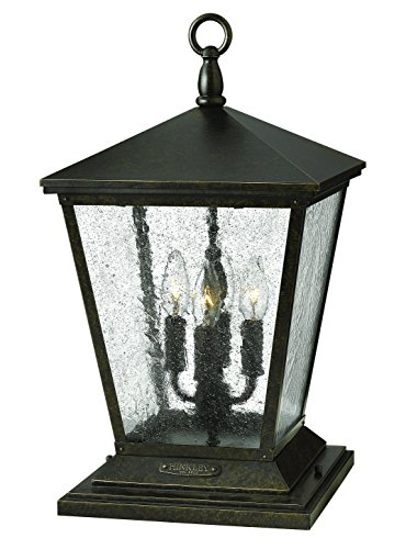 Post Lights Hinkley Lighting - Hinkley 1437RB Traditional Four Light Post Top/Pier Mount from Trellis Collection in Bronze/Darkfinish,