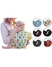 PiccolOrganics, Baby Sling Organic Cotton - GOTS- Newborn Slings Carrier 0+ Toddler Stretchy Wrap Elastic Holder Baby Yoga Outdoors Natural Certified Fabric Ergonomic w/ 3 Ways to Tie - Mothers Gifts