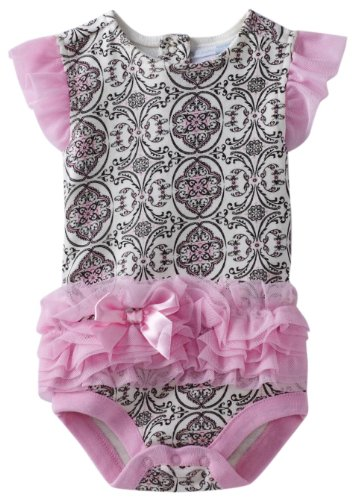 Vitamins Baby Baby Girls' Scroll Print Tutu Bodysuit