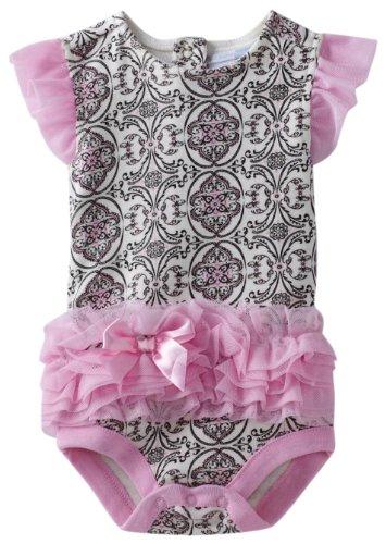 Vitamins Baby Baby Girls' Scroll Print Tutu Bodysuit