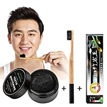 3pcs/set Bamboo Toothpaste + Charcoal Teeth whitening Powder + Ultra Soft Toothbrush for Daily Use . Teeth Whitening Bamboo Charcoal Powder Oral Hygien