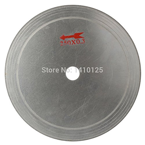 """10"""" inch Super-Thin Diamond Lapidary Saw Blade Cutting Disc Arbor Hole 25mm Rim 0.55mm Saving in Material for Jewelry Tools Gemstone Agate Code 2500.325mm"""
