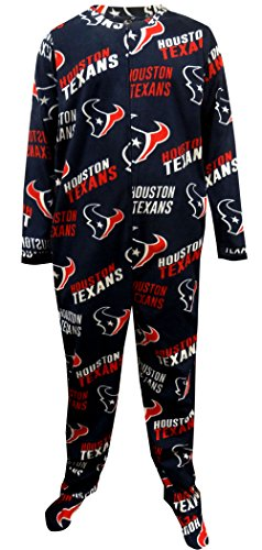 New Concepts Sport Houston Texans Mens One Piece Footie Pajama For Men for cheap