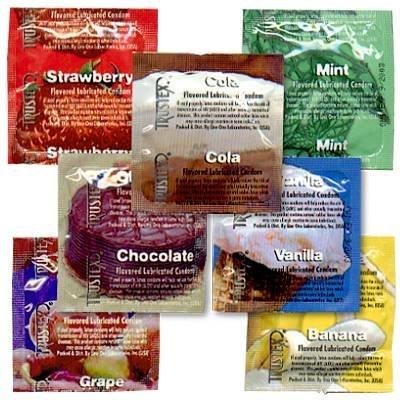 Trustex Flavored 48 Pack -- Vanilla - Trustex Chocolate Flavored Condoms