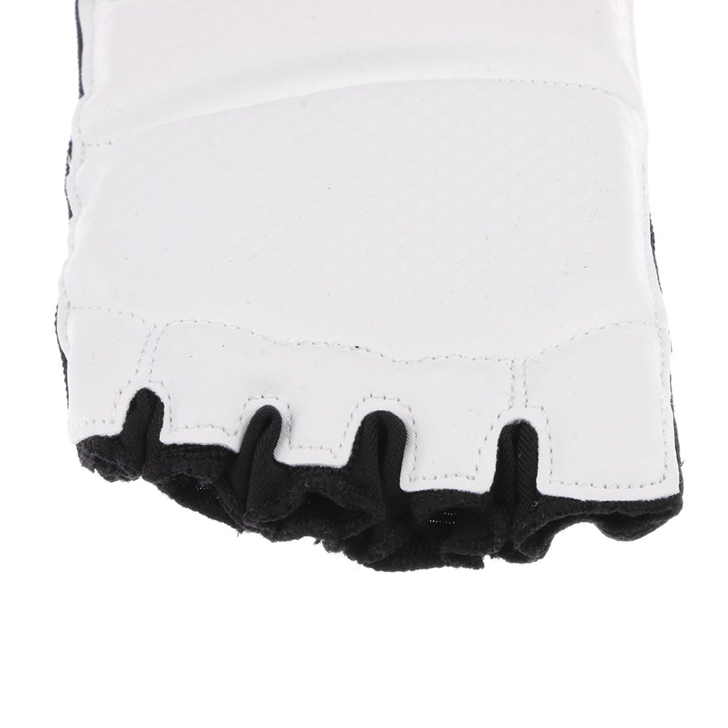 MagiDeal PU Boxing Taekwondo Foot Guards MMA Sparring Training Foot Protector Support