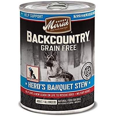 Merrick Backcountry Grain Free Hero'S Banquet Grain Free Wet Dog Food, Case Of 12, 12.7 Oz.