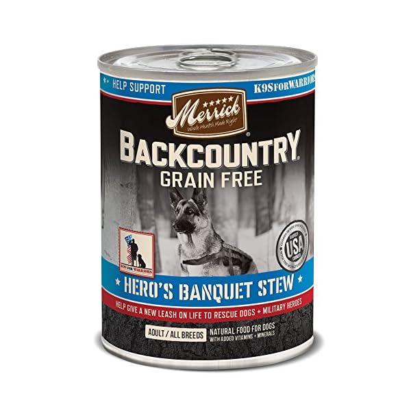 Merrick Backcountry Grain Free Hero'S Banquet Grain Free Wet Dog Food, Case Of 12, 12.7 Oz.
