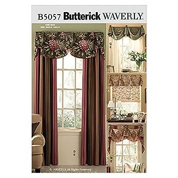 Butterick Homeware Schnittmuster 5057 – Fenster Behandlungen: Amazon ...