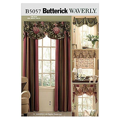 Butterick Homeware Sewing Pattern 5057 Window Treatments - Butterick Window Treatment Patterns