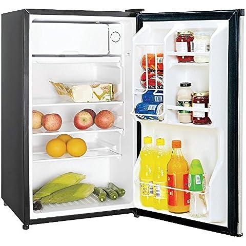 3.5CBFT REFRIGTR STNLS, 3.5 Cubic-ft Refrigerator (Stainless Look), 3.5 cu ft capacity , In-door storage shelves, Can dispenser , Adjustable thermostat control , Adjustable glass shelves