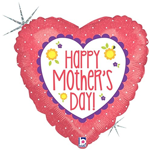 Happy Mothers Day Coral Heart 18