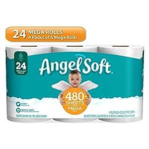Angel Soft Toilet Paper Bath Tissue 24 Mega Rolls