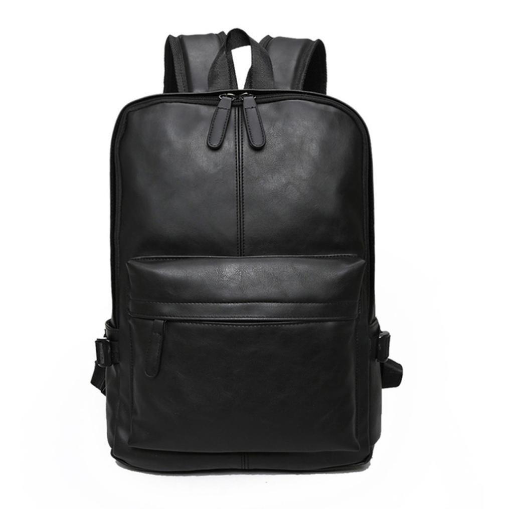 Amazon.com  Todaies Men s Women s Leather Backpack Laptop Satchel Travel  School Rucksack Bag (31cm(L) 44cm(H) 11cm(W) ae4cf6e2f333
