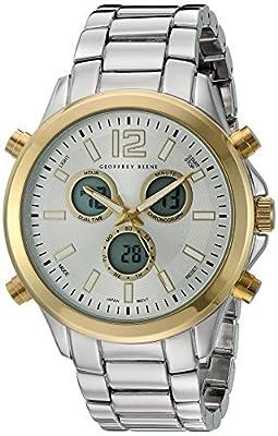 Geoffrey Beene Men's GB8071GN Analog Display Japanese Quartz Grey Watch