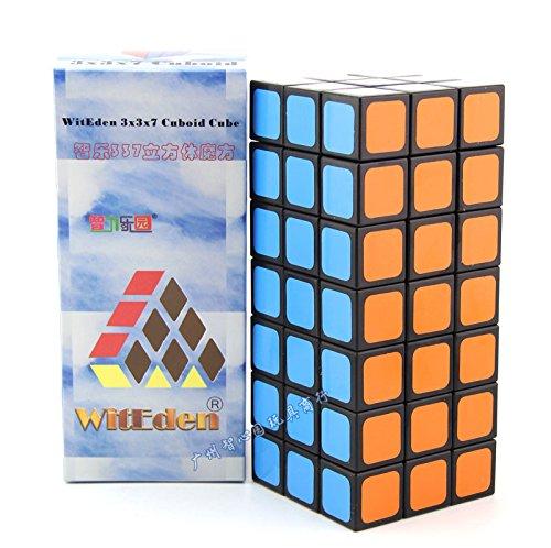 CuberSpeed WitEden 3x3x7 Cuboid Black WitEden 337 Magic cube Puzzle