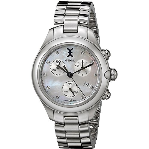 Ebel Women's 1216177 Onde Multifunction Stainless Steel Watch with Diamond Accents