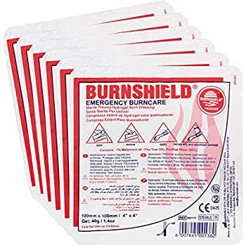 "Amazon.com: Burn-FIX- 4 Pack-Burn Gel Dressing 4"" X 4"" Burn Care-First Aid Treatment. Immediate"