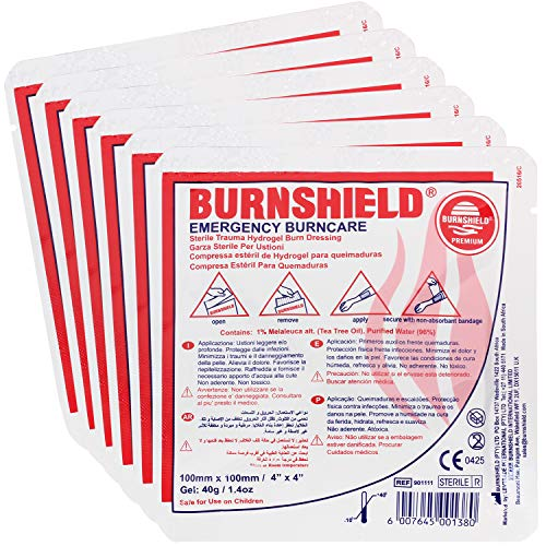"Burnshield 4"" X 4"" Burn Dressing, Sterile (Pack of 6)"