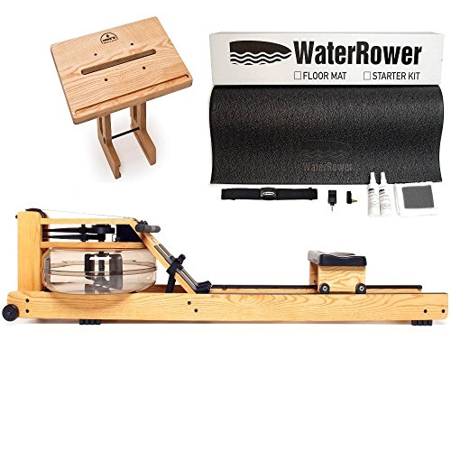 Cheap WaterRower Natural Rowing Machine Bundle – S4 Monitor, Laptop Stand and External Starter Kit