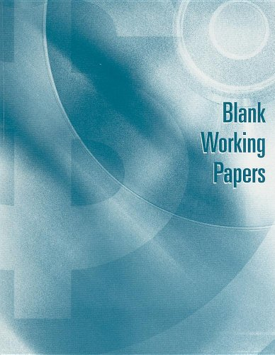 Blank Working Papers for Warren/Reeve/Duchac's Accounting